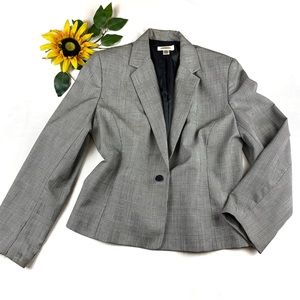 Talbots Wool Plaid Coat Jacket Blazer Cropped